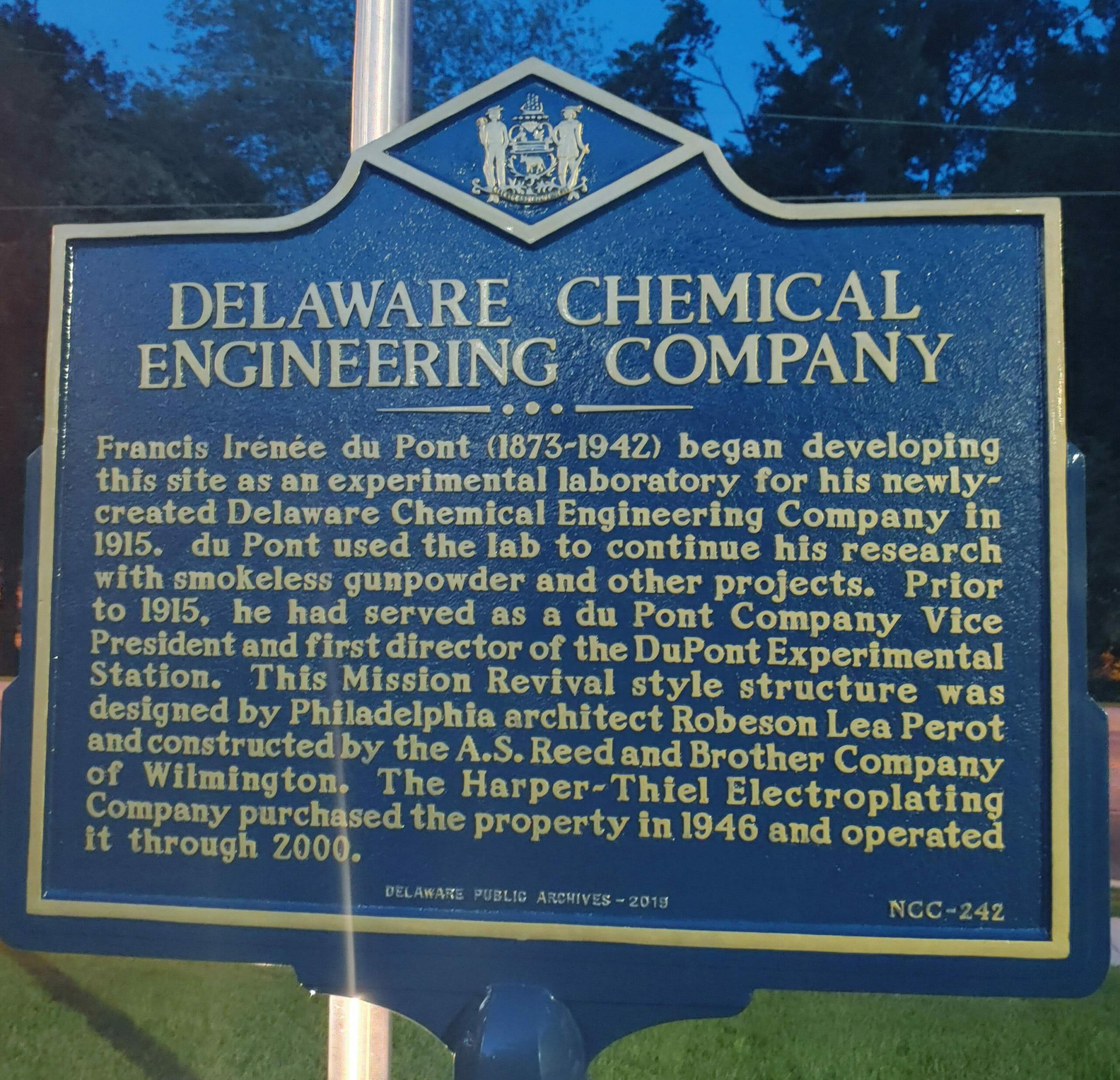 Image of Delaware historical marker