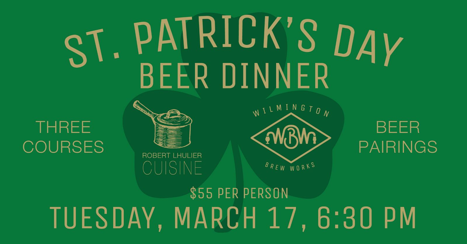 St. Patricks Day Beer Dinner at Wilmington Brew Works